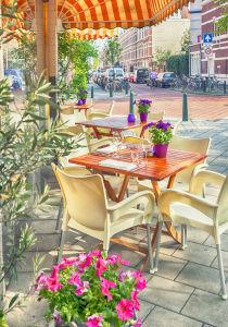Фотообои летнее кафе (city-0001418)