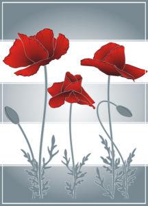 Обои для стен Маки (flowers-0000718)