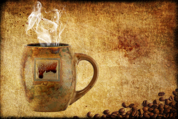 Обои на кухню чашка кофе винтаж (food-0000086)