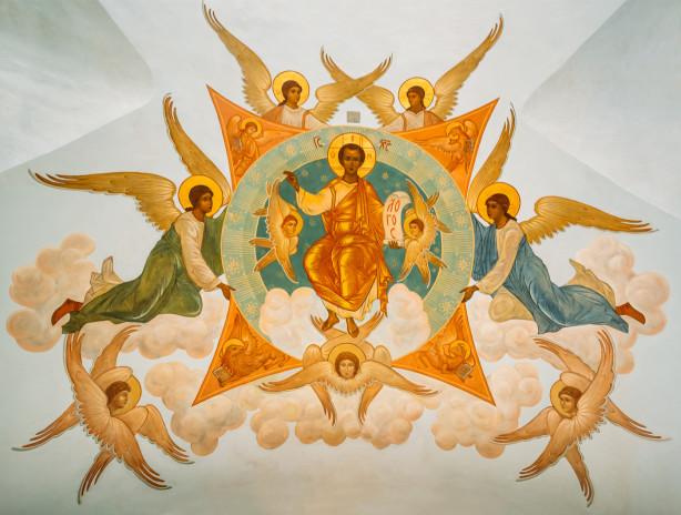 Фотообои фреска Успенского собора (fresco-001)