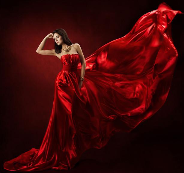 Фотообои Дама в красном (glamour-313)