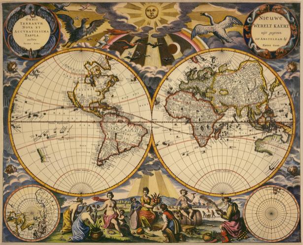 атлас, география, карты, старая карта (map-0000120)