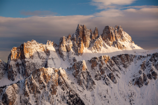 Фотообои горный пейзаж снег (nature-0000797)