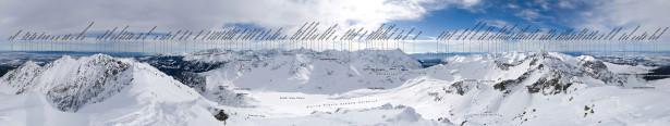 Фотообои горизонтальные горная панорама (nature-00256)