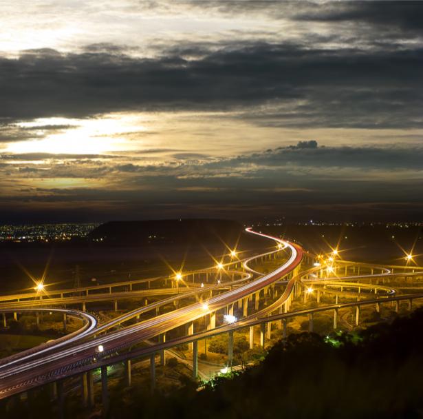 Фотообои ночь автомагистраль (nature-00591)