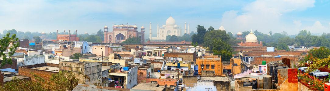 Фотообои панорама Агры в Индии (panorama-67)