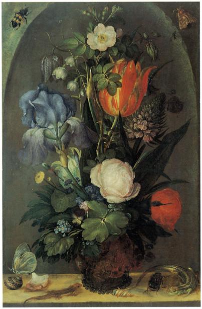 Цветочный натюрморт с двух ящериц (pf-102)