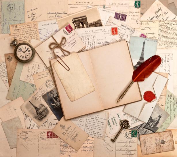Фотообои письма и открытки (retro-vintage-0000084)