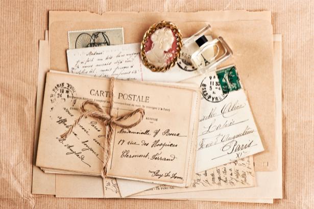 Фотообои винтаж письма и открытки (retro-vintage-0000086)