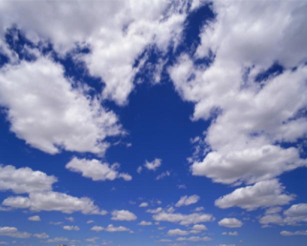 Фото обои небо с облаками днём (sky-0000008)