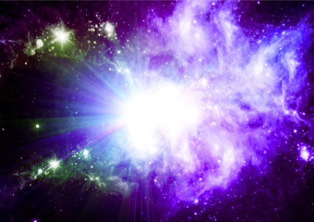 Фотообои галактика в фиолетовом свете (space-0000058)