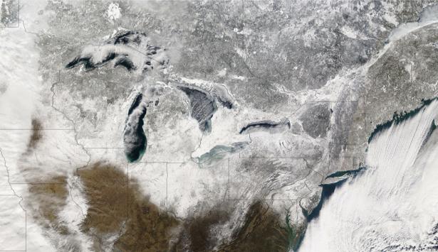 Фотообои NASA зима (terra-00278)