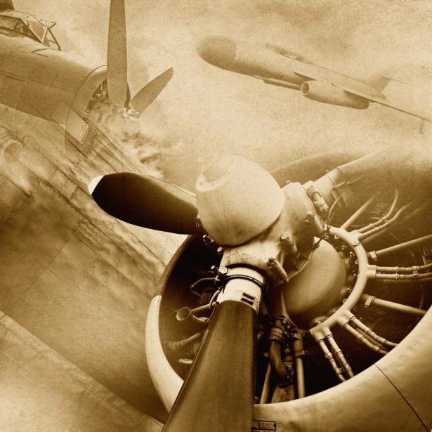 Фотообои ретро самолет (transport-0000243)