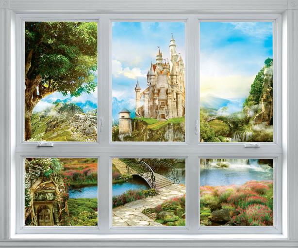 Фотообои дворец за окном (win-23)